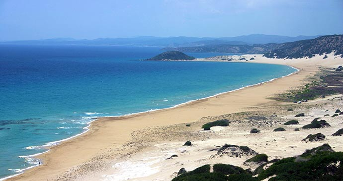 Golden sands beach karpas peninsula Cyprus by North Cyprus Tourism Authority