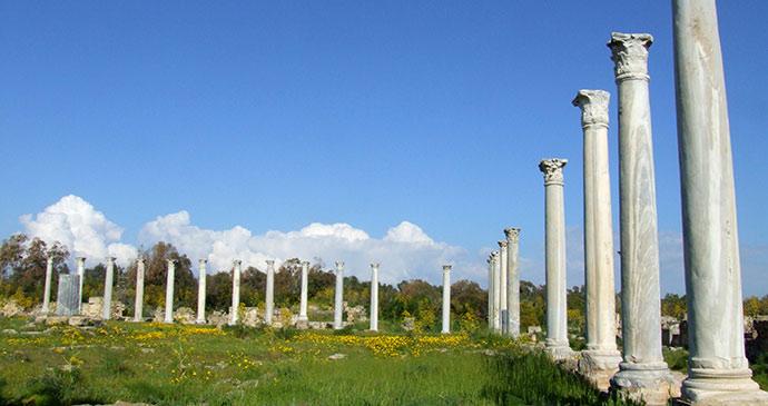 Salamis Roman ruins North Cyprus by judy, Shutterstock
