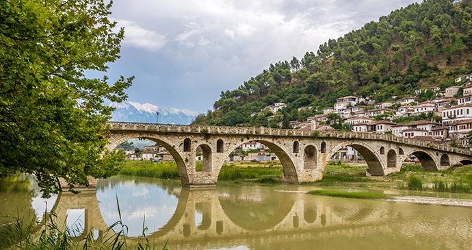 Gorica bridge, Berati, Albania by milosk50, Shutterstock