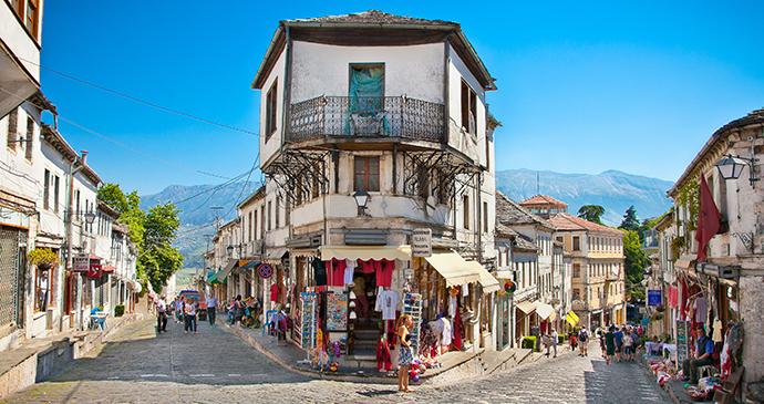 Ottoman bazaar in Gjirokastra, Albania by Milosk, Dreamstime