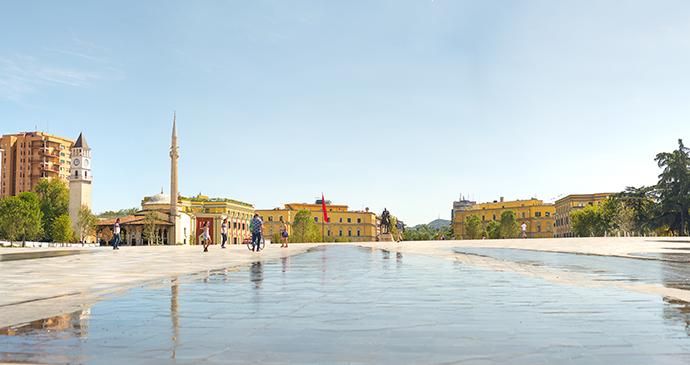 Skanderbeg Square, Tirana, Albania by Alla Simacheva, Shutterstock