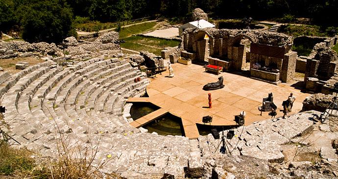 Butrint Roman amphitheatre Albania by roodee, Shutterstock