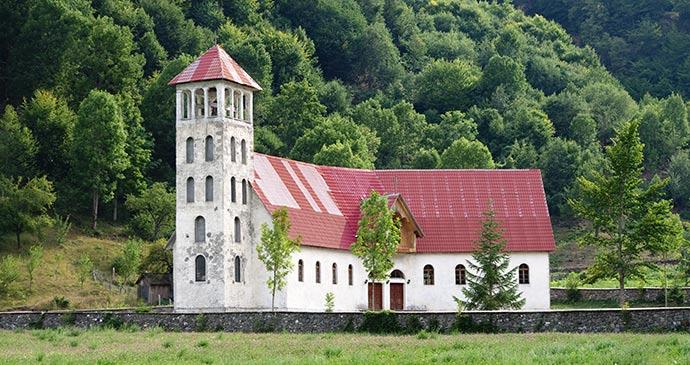 A church in Vermoshi, in the Kelmendi commune by ollirg, Shutterstock