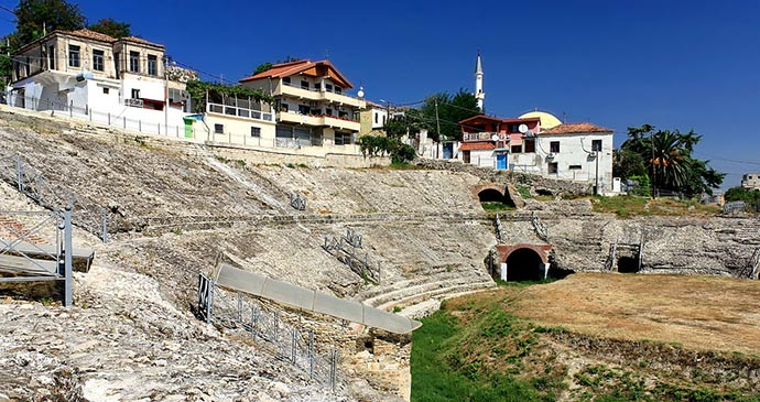 Durrës Amphitheatre Albania by Hons084, Wikimedia Commins