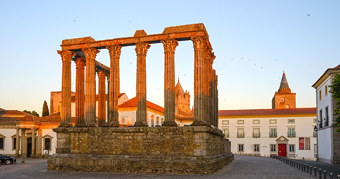 Roman Temple Evora Alentejo Portugal by Filipe B. Varela Shutterstock best historical sights alentejo