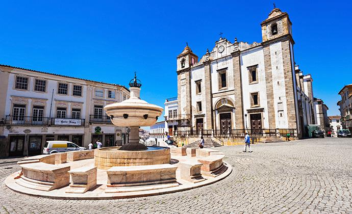 Praça do Giraldo Evora Alentejo Portugal by saiko3p Shutterstock
