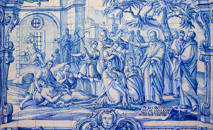 Azulejo tiles Hotel Convento de Sao Paulo Alentejo Portugal by Alex Robinson