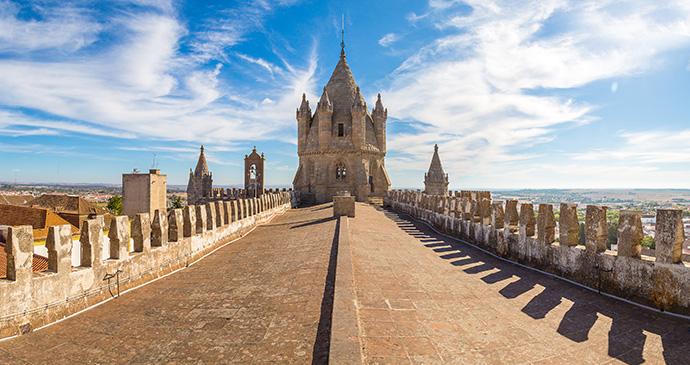 Cathedral Evora Alentejo Portugal by S-F Shutterstock