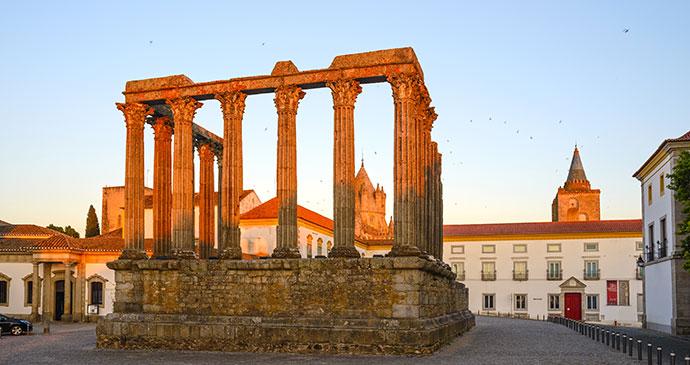 Temple Evora Alentejo Portugal Europe by Filipe B. Varela, Shutterstock