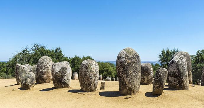 Cromeleque dos Almendres Evora Alentejo Portugal Europe by J2R, Shutterstock