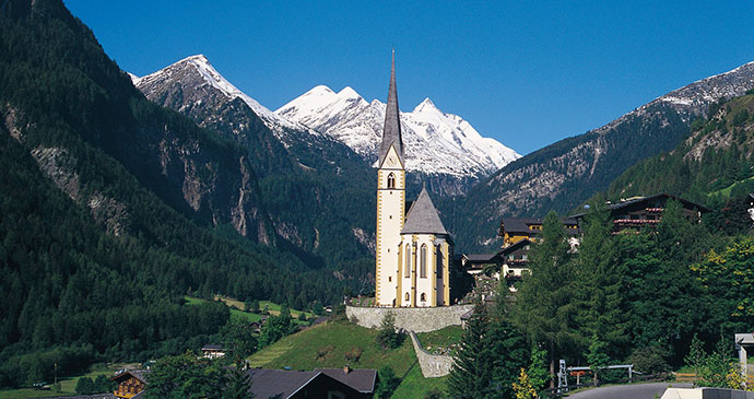 Church of St Vincent of Saragossa Grossglockner Alpe Adria Trail Austria by