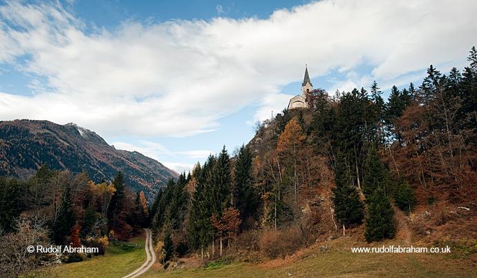 Church of St George Danielsberg Alpe Adria Trail by Rudolf Abraham