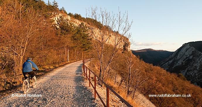 Trieste–Hrpelje Railway line cycle trail Alpe Adria Trail by Rudolf Abraham