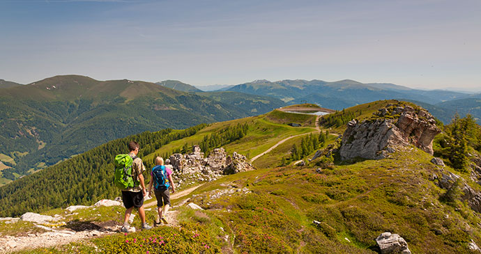 The Alpe-Adria trail in Nockberge National Park, Austria by Franz Gerdl, Kaernten Werbung
