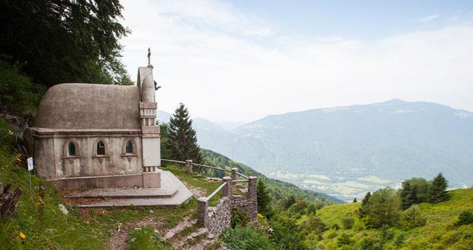 Planica Chapel Slovenia Alpe Adria Trail by Slovenia Tourist Board Archive