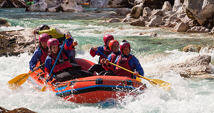 Rafting Soca River Slovenia Alpe Adria Trail by Slovenia Tourist Board Archive