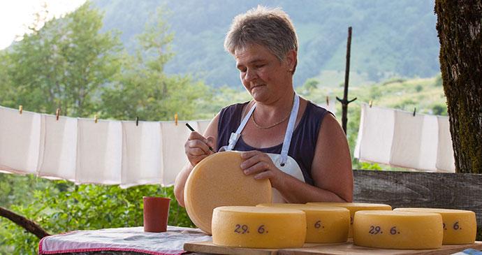 Tolminc cheese Slovenia Alpe Adria Trail by Slovenia Tourist Board Archive