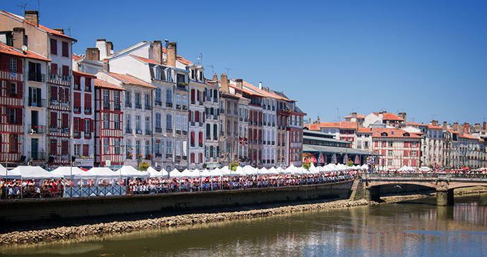 Bayonne waterfront France Basque Country by Delpixel, Shutterstock