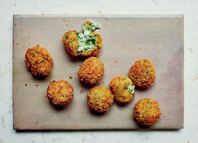 Spinach and goat's cheese croquetta, Jose Pizarro