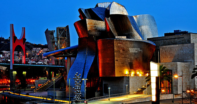 Guggenheim Museum Bilbao Spain Basque Country by Santi Rodriguez Shutterstock