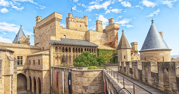 Olite Castle Navarre Spain by Chanclos Shutterstock
