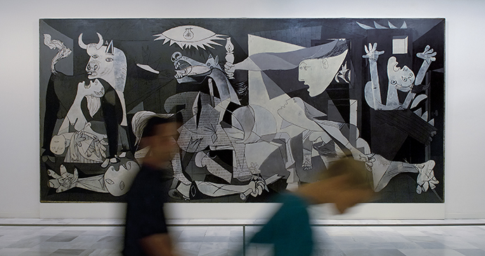 Guernica Pablo Picasso Madrid Spain by PromoMadrid Wikimedia Commons