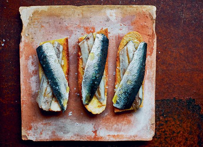 sardines marinated in cider or Txakoli vinegar