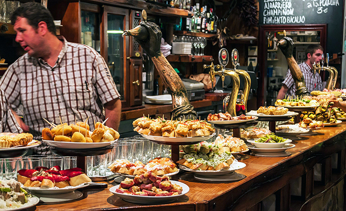 Pintxos San Sebastian Spain Basque Country by © Matyas Rehak, Shutterstock