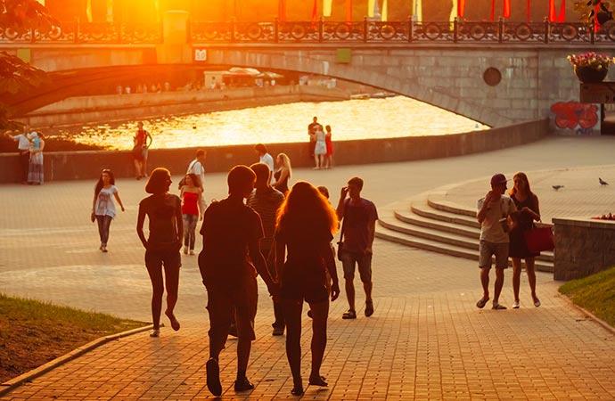 Gorky Park Minsk Belarus by Ryhor Bruyeu Dreamstime
