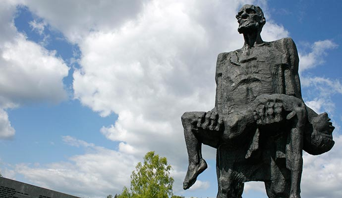 The Unconquered Man Joseph Kaminsky Khatyn Memorial Belarus Europe by John Oldale