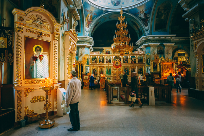 Russian Orthodoxy Cathedral of Sts Peter and Paul Belarus Europe by Grisha Bruev Shutterstock