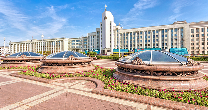Independence Square Minsk Belarus Europe by Bahdanovich Alena Shutterstock