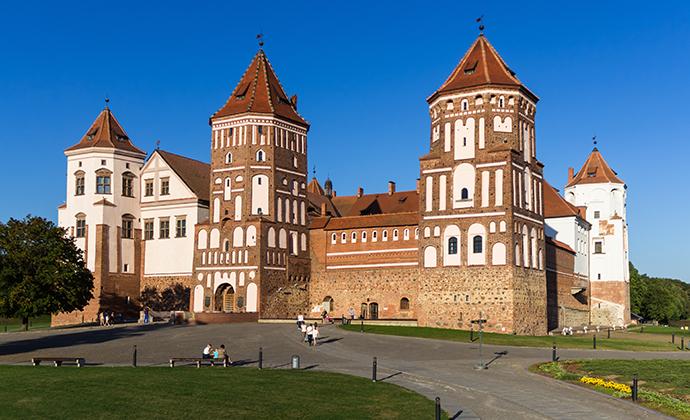 Mir Fortress Belarus Europe by Kuryanovich Tatsiana Shutterstock