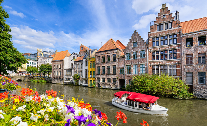 Ghent canal Flanders Belgium by Mapics Shutterstock
