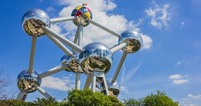 Atomium Brussels Belgium Flanders by bruno coelho, Shutterstock world's most unusual buildings