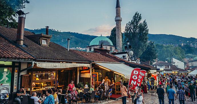 Baščaršija, Sarajevo, Bosnia by fotokon, Shutterstock