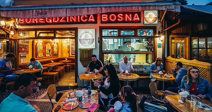 Buregdženica, Baščaršija, Sarajevo, Bosnia by Fotokon, Shutterstock