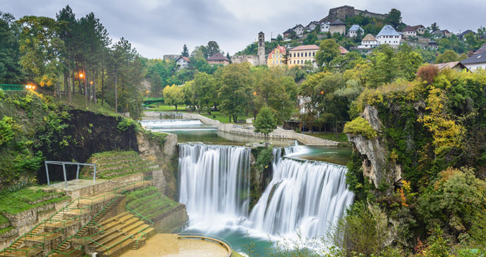 Waterfalls, Jajce, Bosnia by Alberto Loyo, Shutterstock