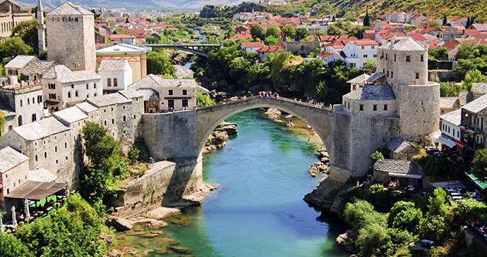 Stari most, Mostar, Bosnia by Lucertolone, Shutterstock