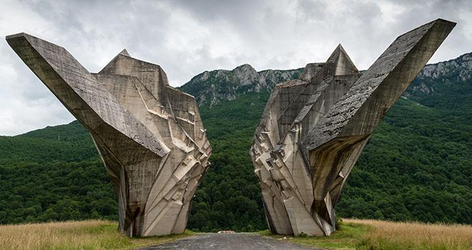 World War II monument, Sutjeska National Park, Bosnia by Dinosmichail, Shutterstock