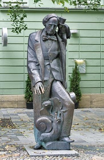 Hans Christian Andersen Statue Bratislava Slovakia by Mikhail Markovskiy, Shutterstock