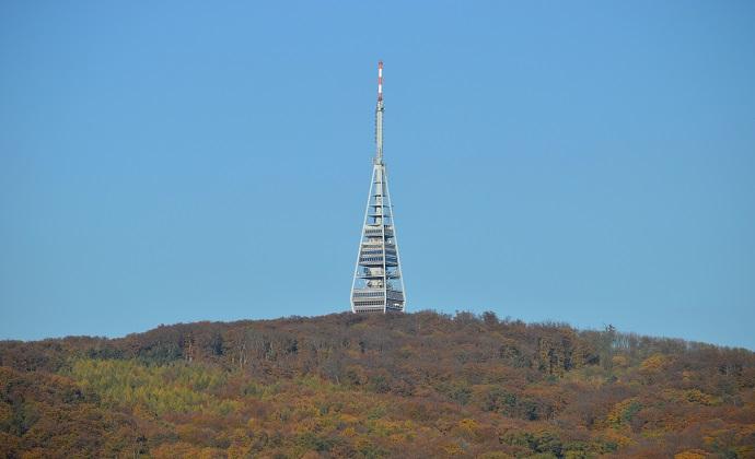 Kamzík TV Tower Bratislava Slovakia by VargaA, Wikimedia Commons