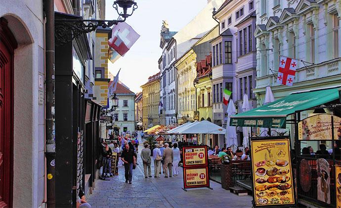 Old Town Cobbled Street Bratislava Slovakia by Gadzius Shutterstock