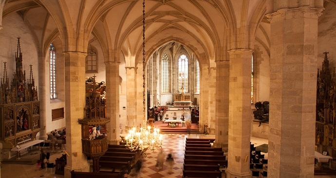 St Martin's Cathedral Interior Bratislava Slovakia by DUOMEDIA