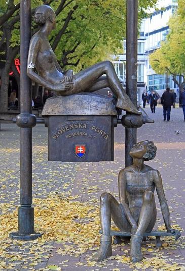 Skateboarder Girls Statue Bratislava Slovakia by Andrew Babble, Shutterstock