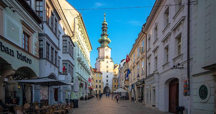 Michael's Tower Bratislava Slovakia by Lubos Houska, Shutterstock