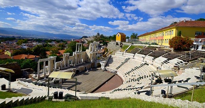 Plovdiv Amphitheatre, amphitheatres, Bulgaria by meunierd Shutterstock