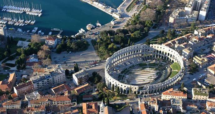 Arena, Pula, Istria by Pula Tourist Board