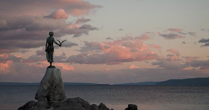 Maiden with a Seagull, Opatija, Croatia by Opatija Riviera Photonet