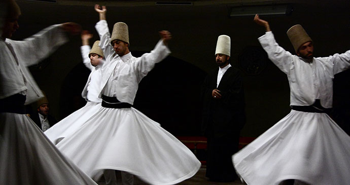 Dervishes Rumi Festival Konya Turkey by Schorle, Wikimedia